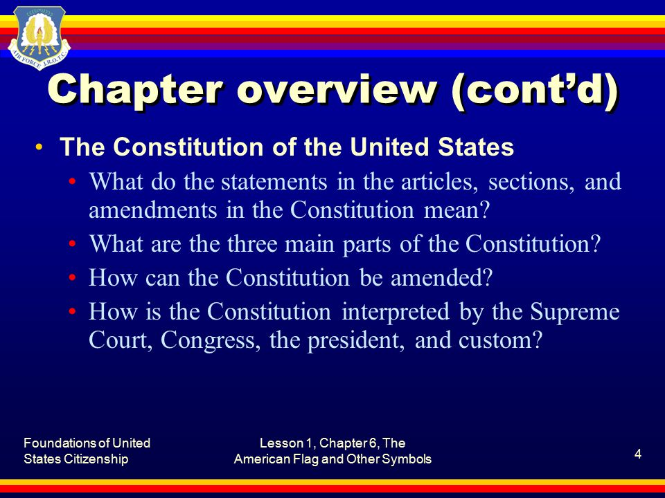 Summary of the Constitution