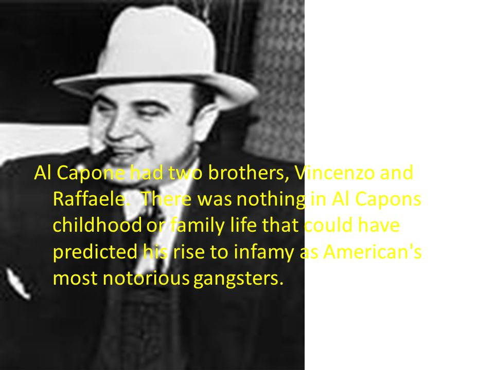 Al capones rise to power