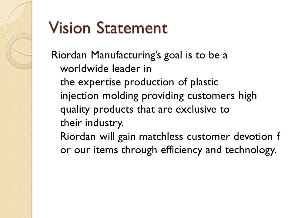 riordan manufacturing strategic plan essay