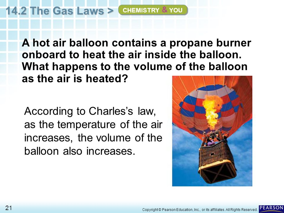 chapter 14 the behavior of gases 14 2 the gas laws