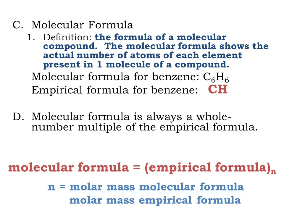 The Mole Chemistry ppt download
