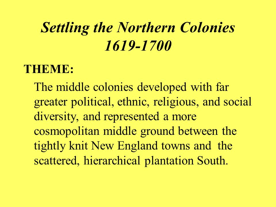 settling the northern colonies vocabulary essay This brief overview of the northern colonies of thirteen colonies middle colonies vocabulary -proprieto southern colonies settling the 13 colonies.
