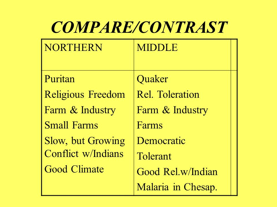 compare and contrast puritans and planters Ssush1 compare and contrast the development of english settlement and  hostilities of settlers by raising taxes on poor planters  puritans (with their superior.