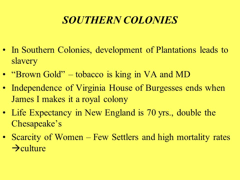Compare the political and social characteristics of the northern middle and southern colonies