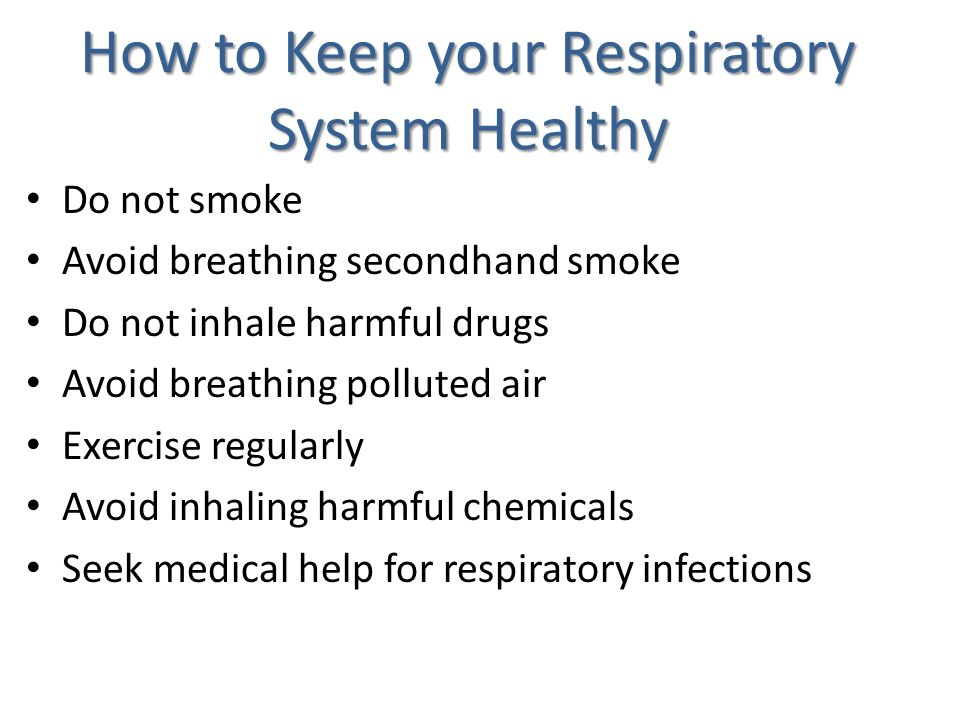 How to Keep your Respiratory System Healthy