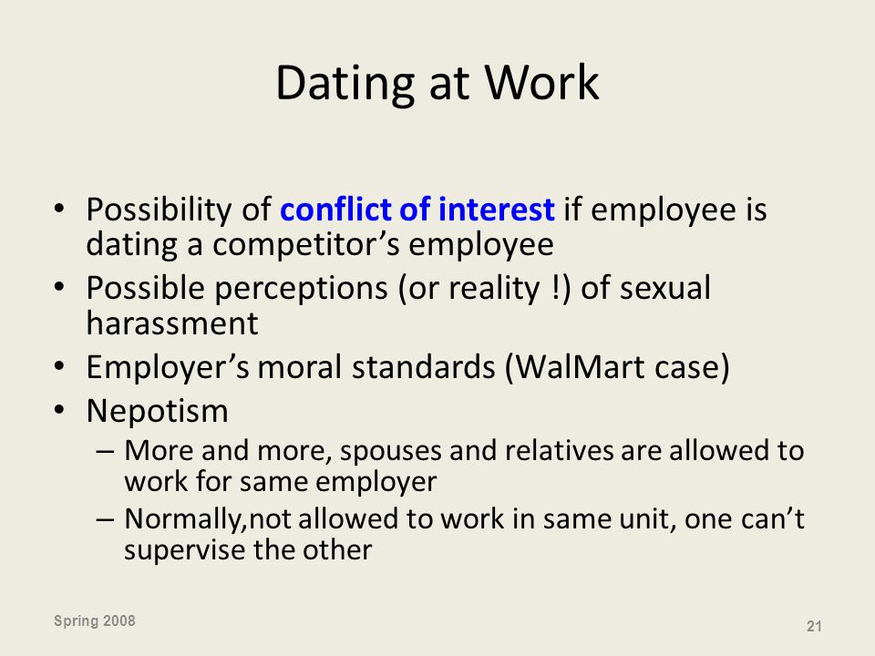 Dating & Conflict of Interest