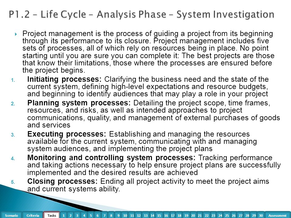 system investigation phase The systems development life cycle system investigation each of the sdlc phase objectives are described in this section with key deliverables.