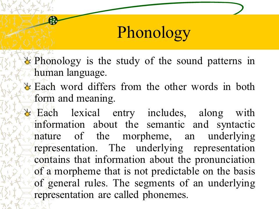 phonetics phonology