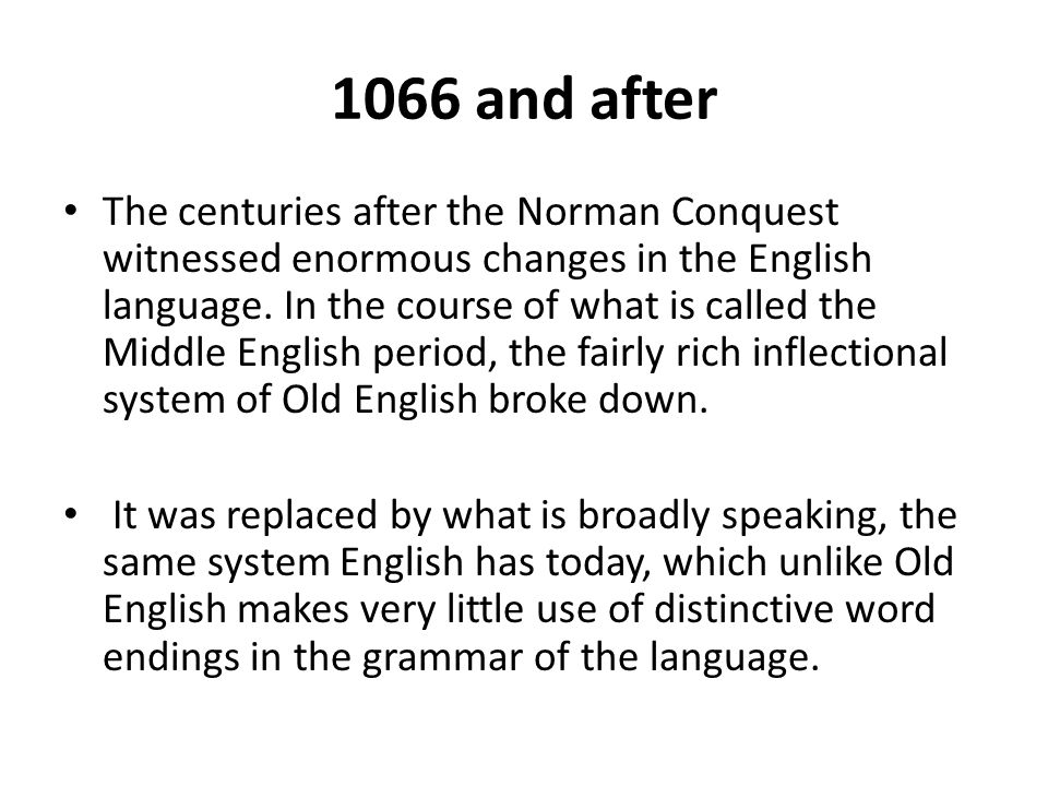 the influence of norman conquest on old english essay print