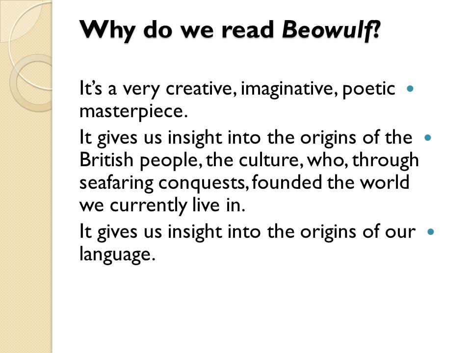beowulf insight to people From beowulf to chaucer, the british library makes 1,000 years of rich   scholarly insight for young people and learners across the world.