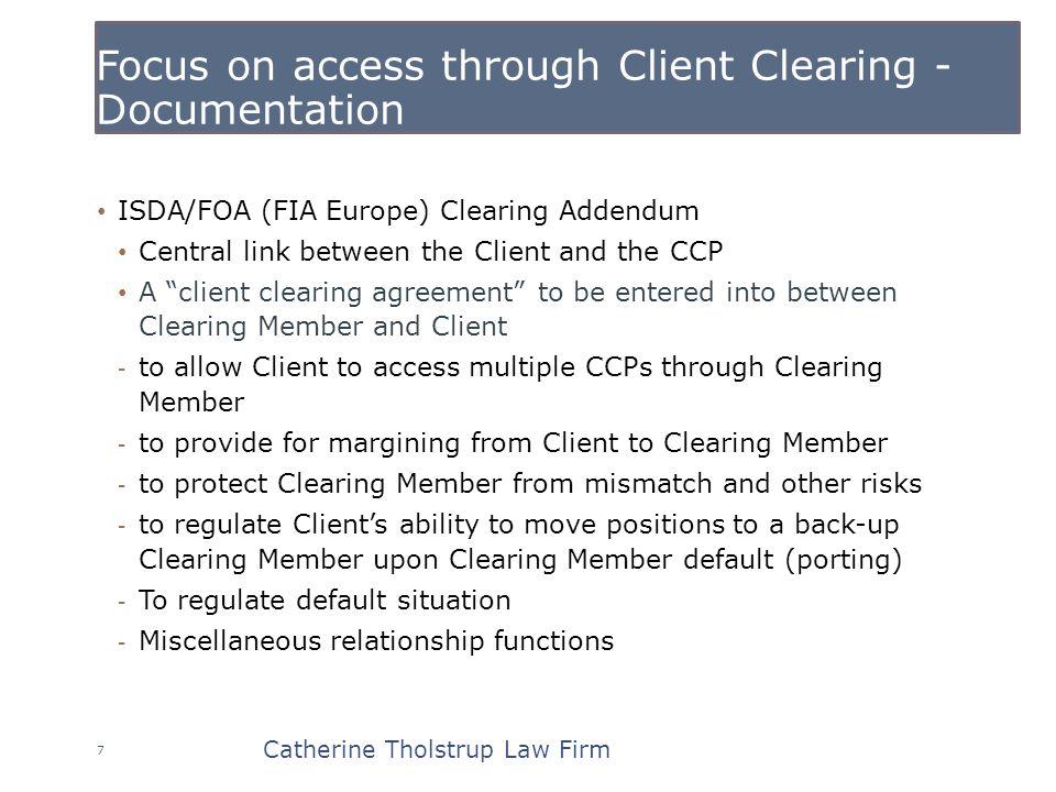 Clearing broker client default