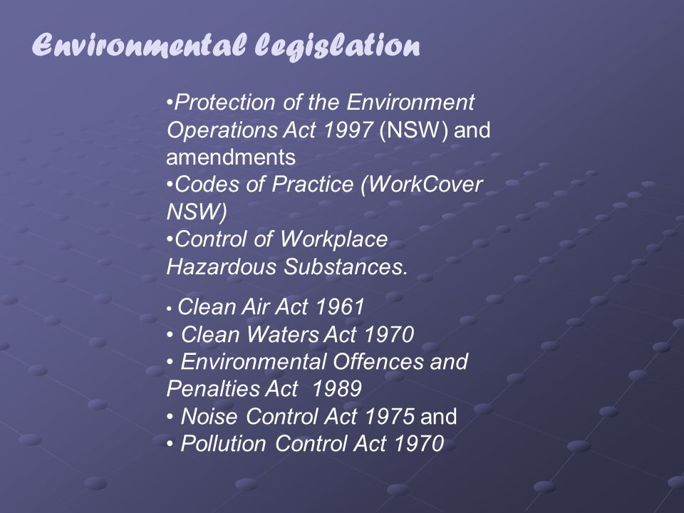 environmental legislation San francisco is home to some of the world's most innovative environmental  legislation and initiatives check out our policies to learn about how we put our.