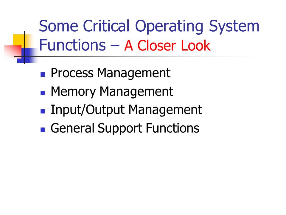 memory and process manager functionality introduction The memory management function keeps track of the status of each memory location, either allocated or free it determines how memory is allocated among competing processes, deciding which gets memory, when they receive it, and how much they are allowed.