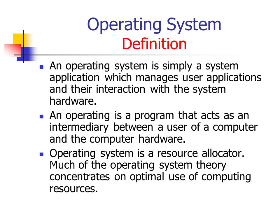 definition of operating system an operating The application programs make use of the operating system by making requests  for services through a defined application program interface (api) in addition.