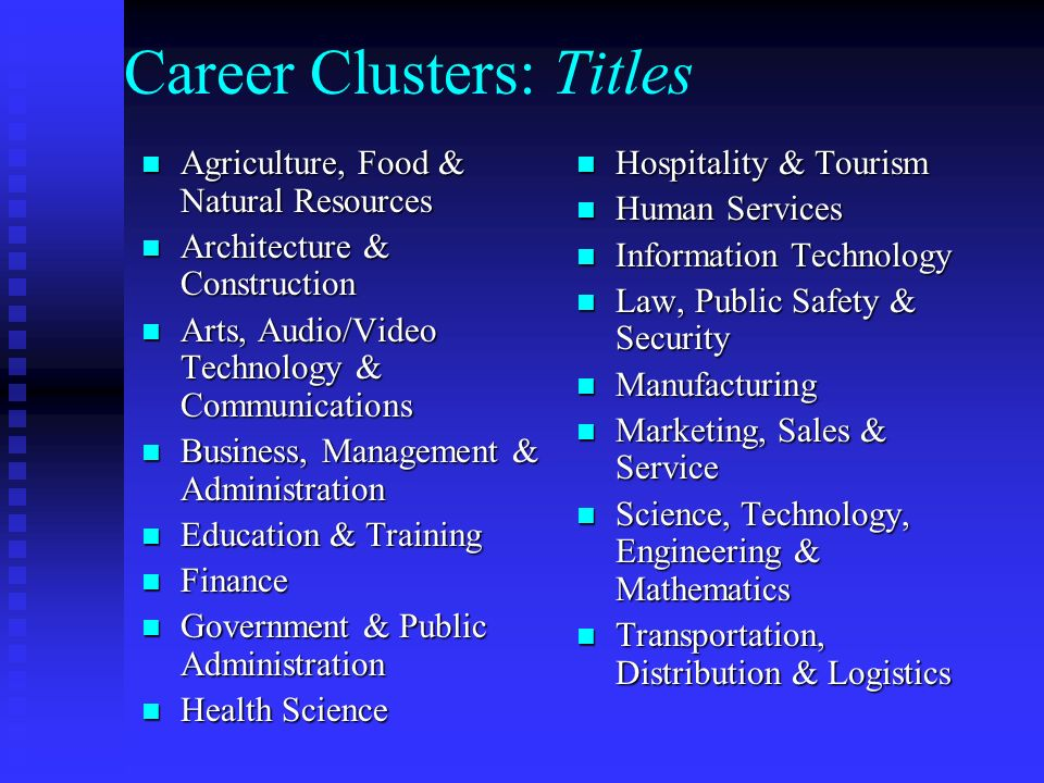 Career Clusters Focusing Education On The Future Ppt