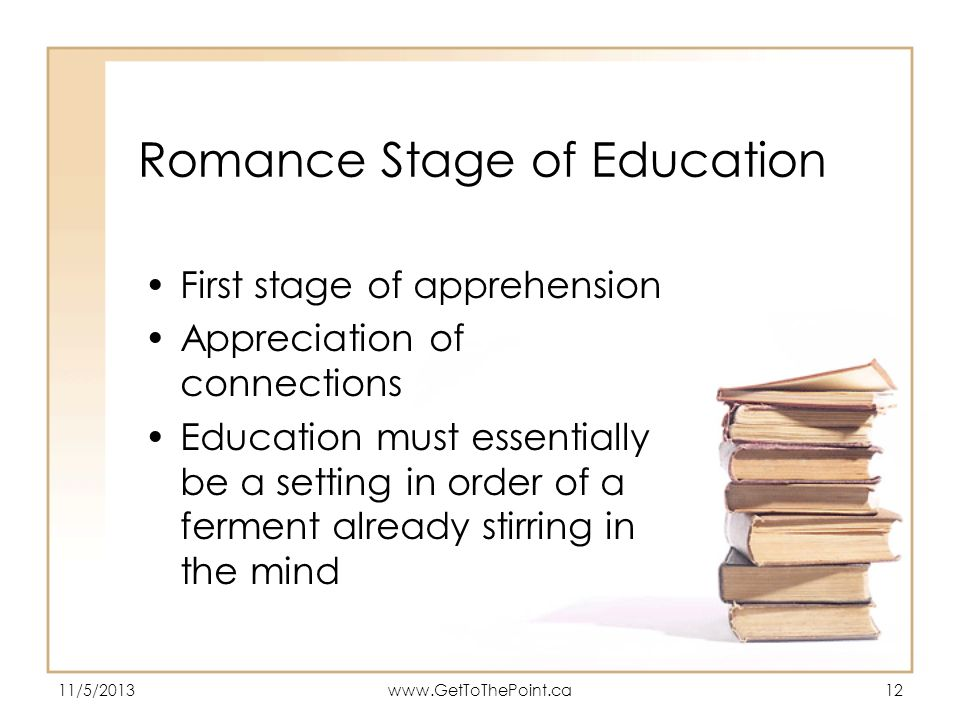 Romance Stage of Education