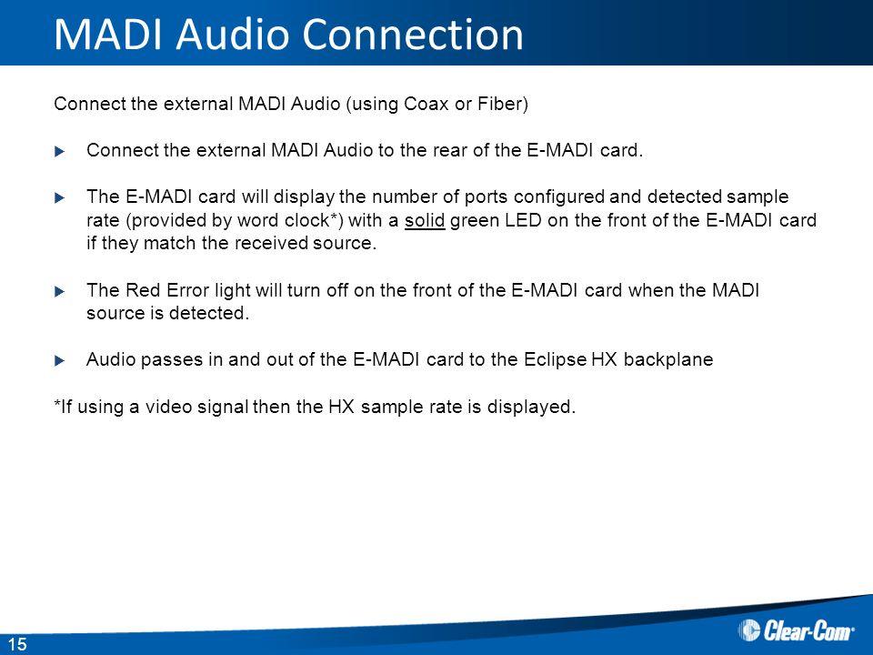 Eclipse HX EMADI 64 card ppt download
