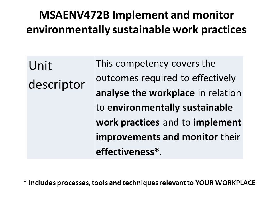 sustainable work practices Australia-business-and-management-implement and monitor environmentally sustainable work practices through aamc.