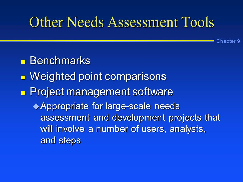 Chapter 9 User Needs Analysis And Assessment Ppt Video