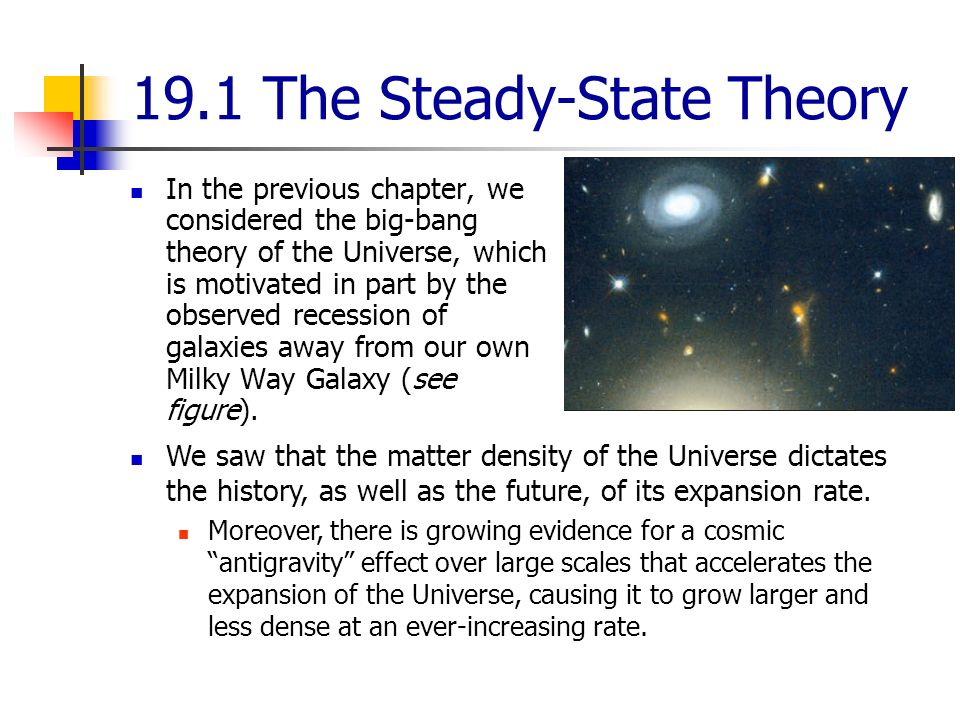 The Steady State Theory