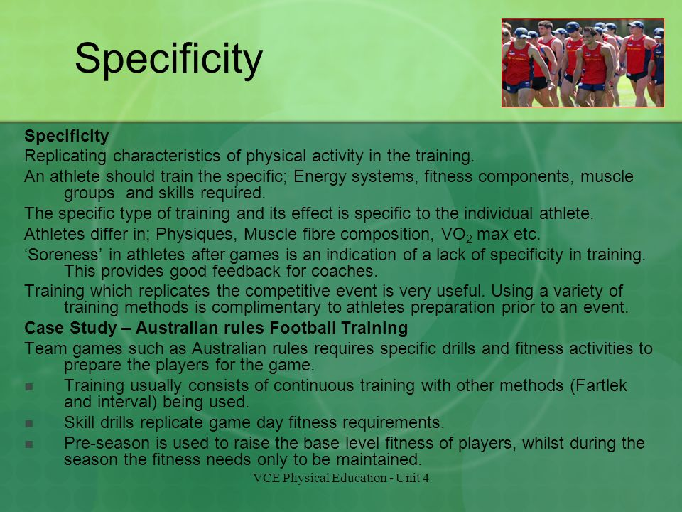 Methods and effects of training