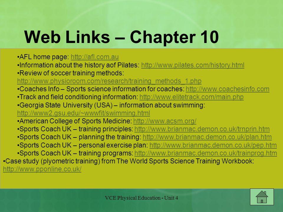 Vce Physical Education Unit 4 Ppt Download