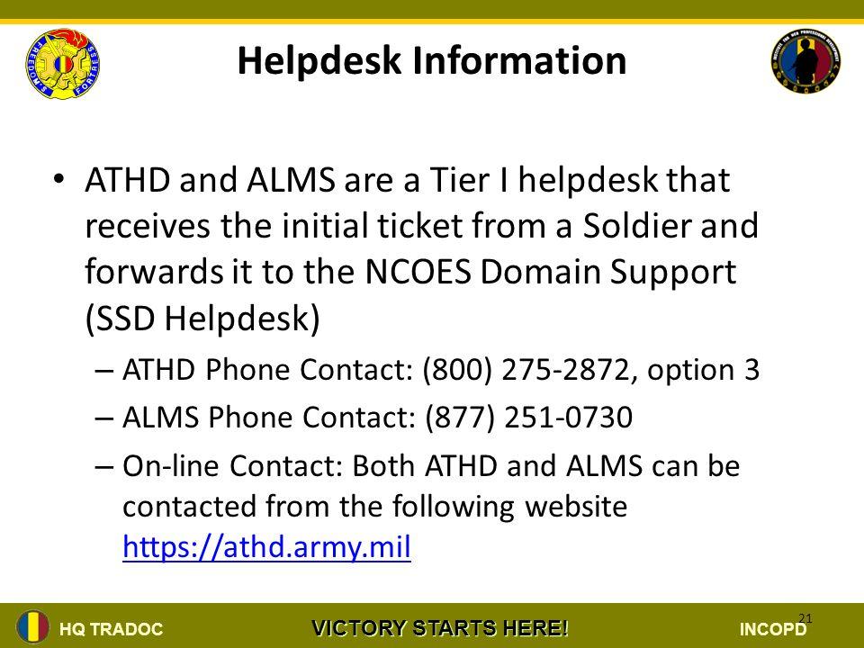 Helpdesk Information