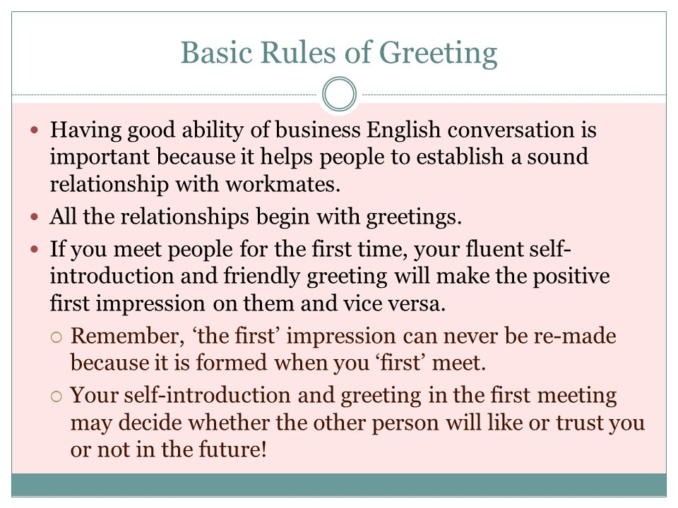 Lesson 2 introductions greeting ppt download basic rules of greeting m4hsunfo
