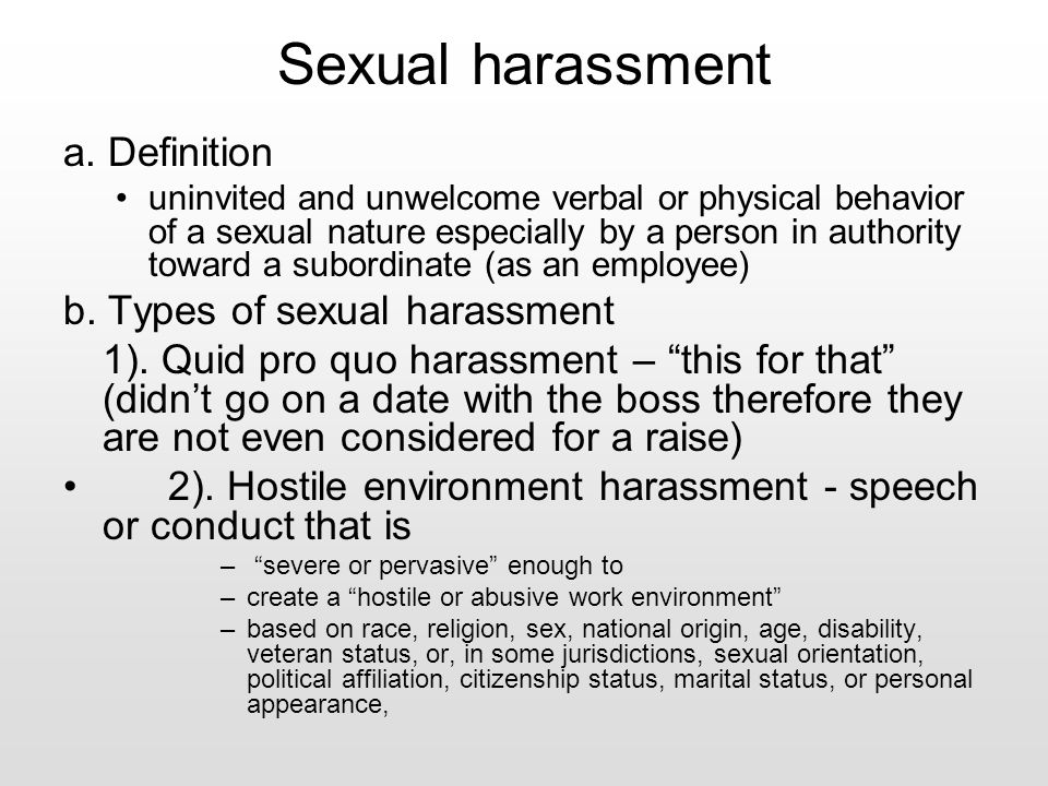 2 types of sexual harassment