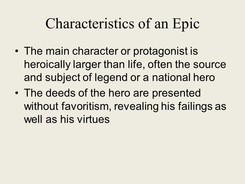 a description of protagonist heroics in the epic beowulf 14062018 heroic poetry: heroic poetry  the mature form of heroic poetry is the full-scale epic,  thus, homer's careful description of how achilles dresses.