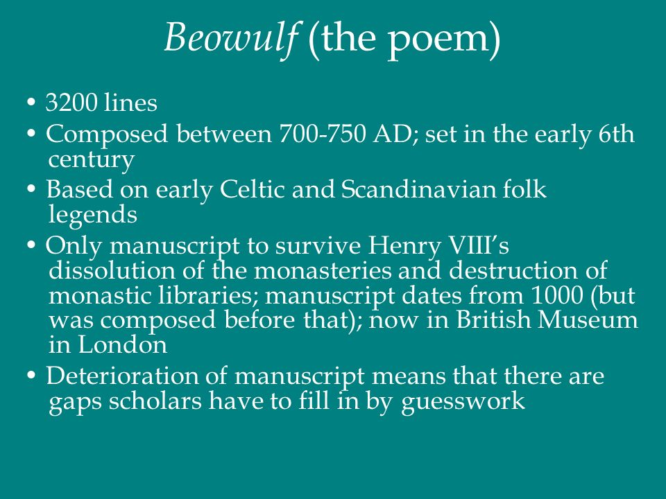 beowulf and anglo saxons essay