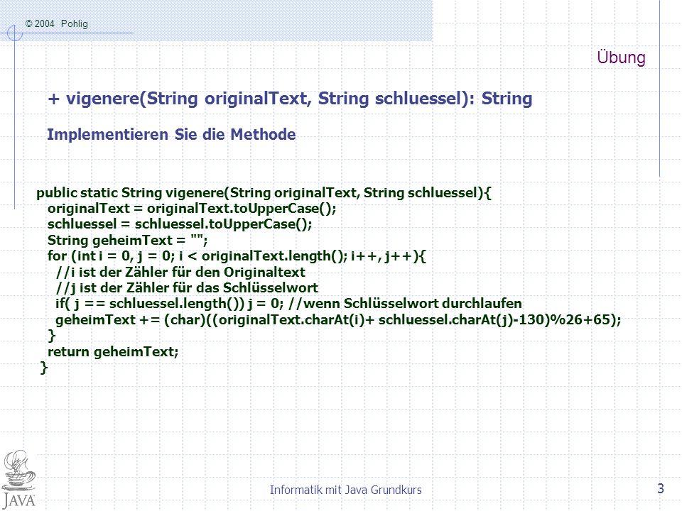 Informatik mit Java Grundkurs