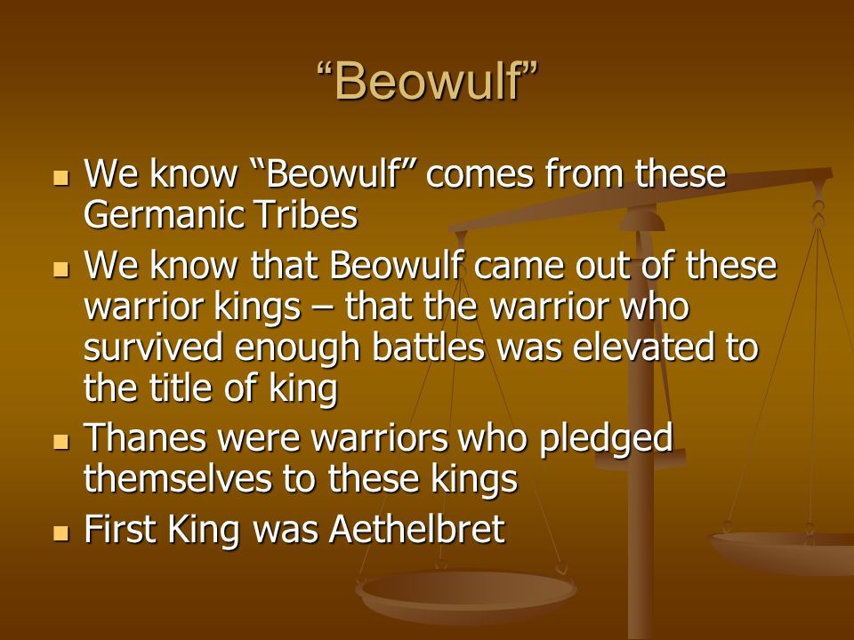 germanic people as well as beowulf essay