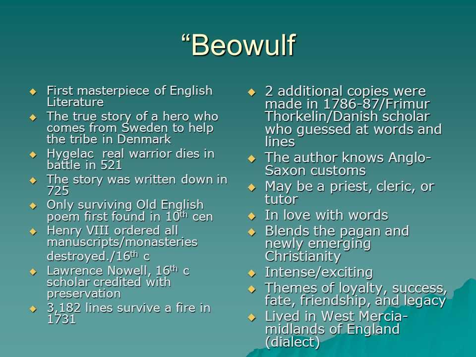truth and justice in beowulf Beowulf (heaney, 2000)  a protector of his people, pledged to uphold truth and justice and to respect tradition, is entitled to affirm that this man was born to.