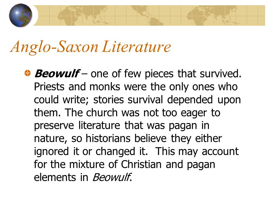 an analysis of the pagan and christian elements in the epic anglo saxon poem beowulf In a thorough analysis of beowulf, the christian and pagan  the pagan elements of the epic are evident in  read essay beowulf: christian vs pagan influence term.