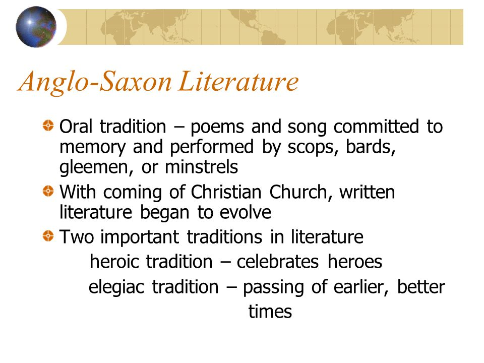 anglo saxon writing The anglo-saxons, settlers from holland, denmark and germany who colonized britain after the roman departure in 410 ad, left behind a poetic literature composed in.