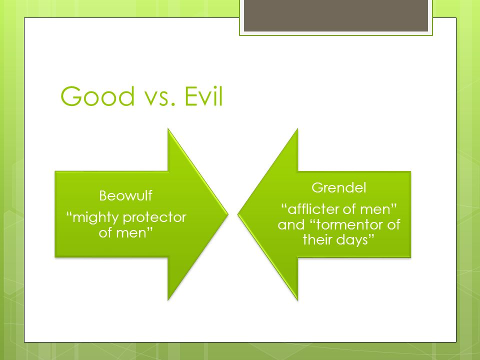 How does Beowulf explore the theme of good vs. evil?