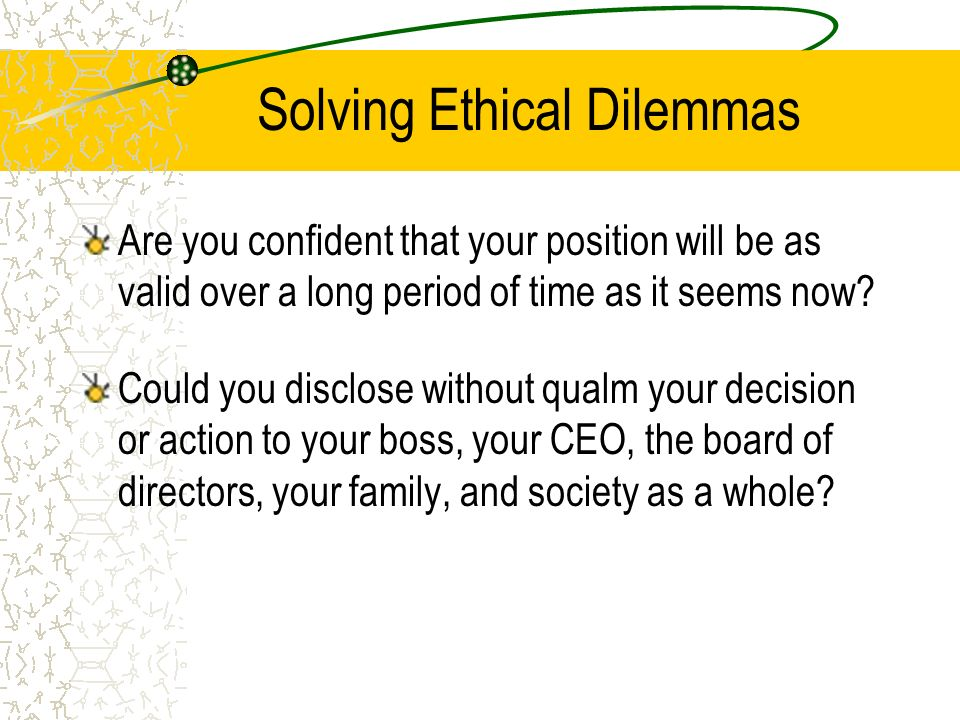 how to solve ethical dilemmas