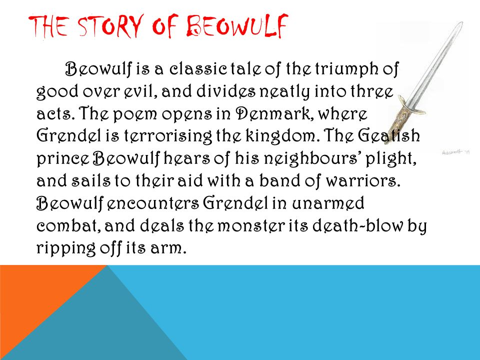 the act of honor in the story of beowulf Beowulf is one of the most significant epics written in the period when people were on their way from paganism to christianitythe anglo-saxon epic story was created in the 8th century.
