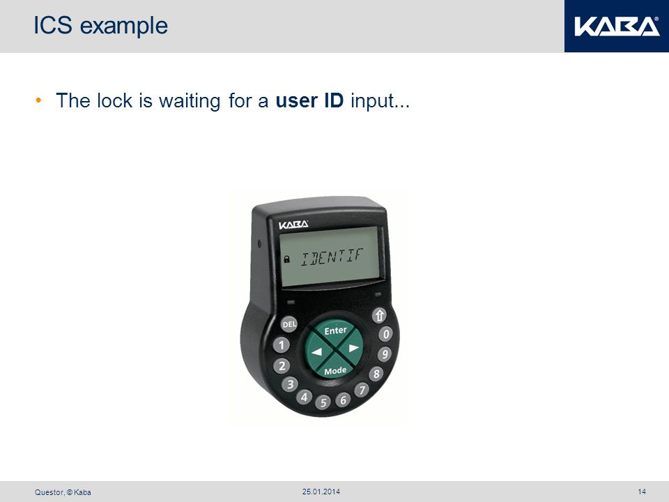 ICS example The lock is waiting for a user ID input... 27.03.2017