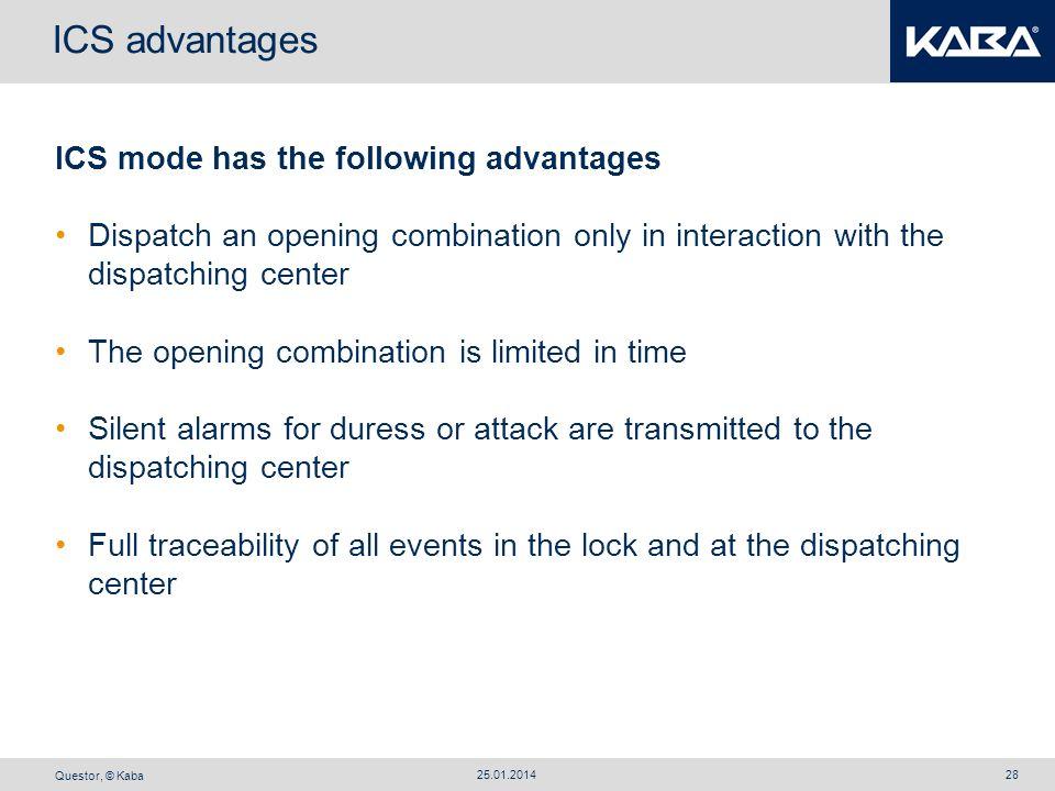 ICS advantages ICS mode has the following advantages
