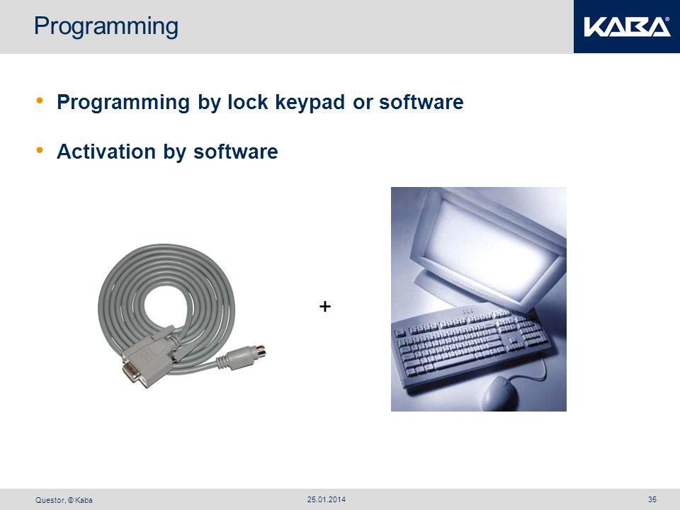 Programming + Programming by lock keypad or software