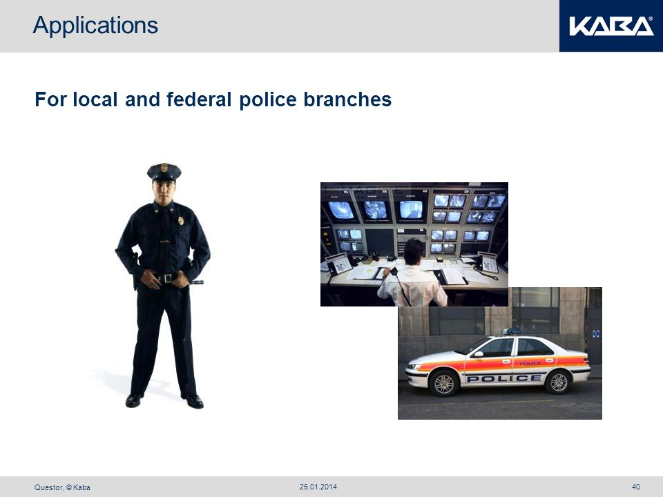 Applications For local and federal police branches 27.03.2017