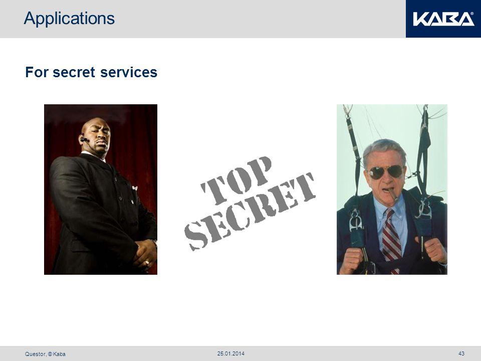 Applications For secret services 27.03.2017