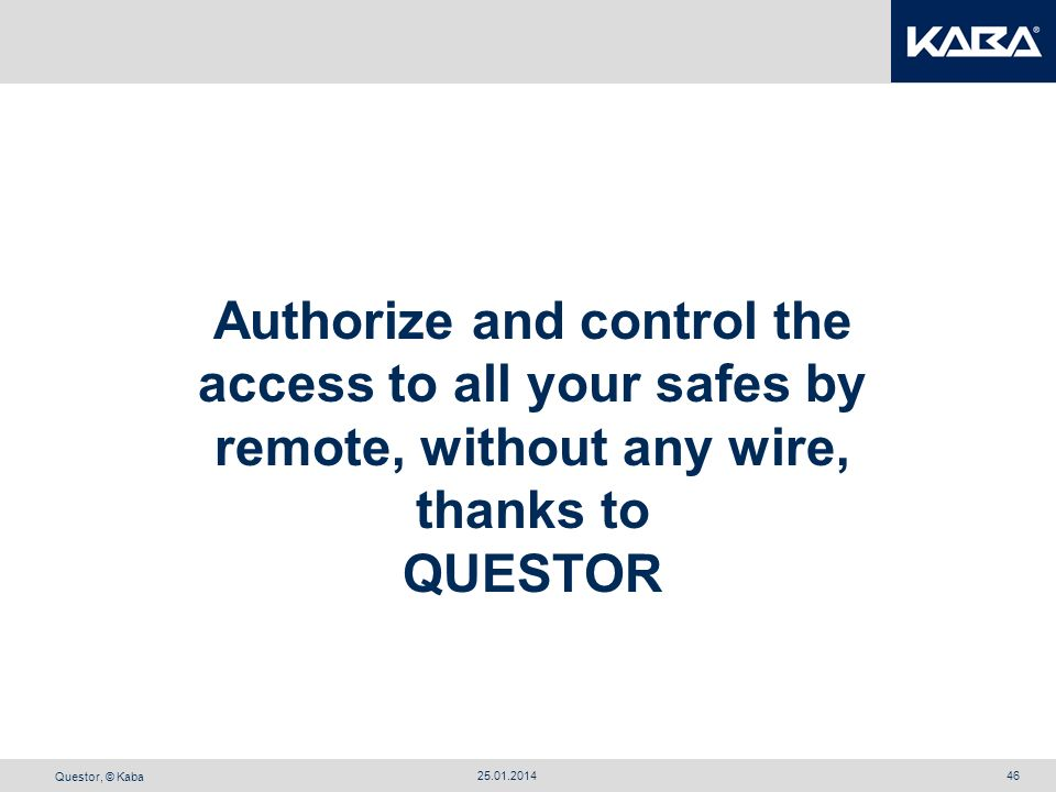 Authorize and control the access to all your safes by remote, without any wire, thanks to