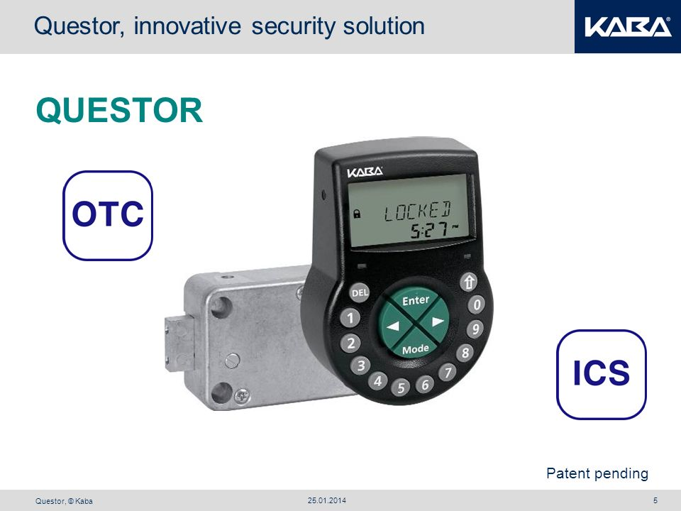 QUESTOR Questor, innovative security solution Patent pending