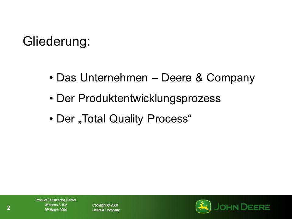 Gliederung: Das Unternehmen – Deere & Company