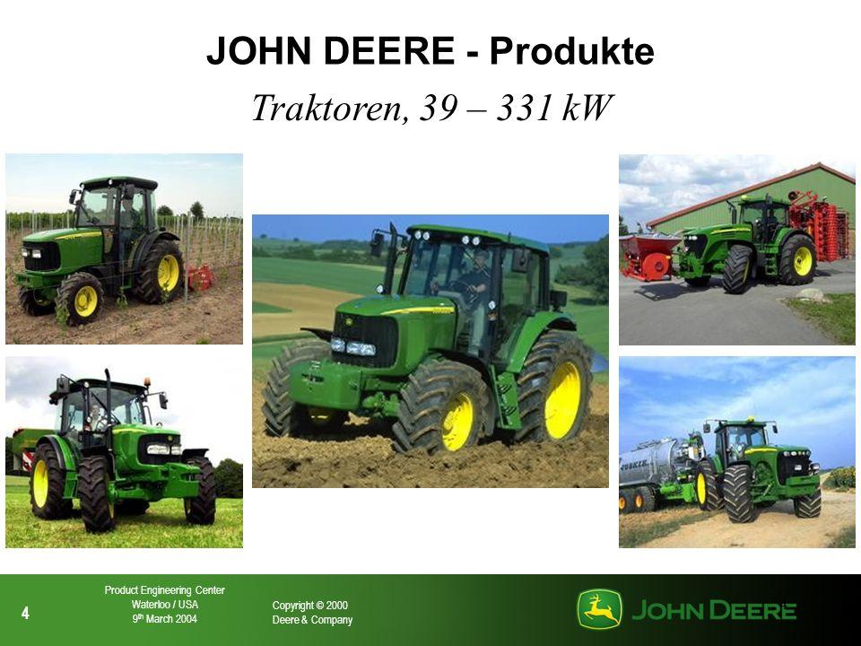 JOHN DEERE - Produkte Traktoren, 39 – 331 kW