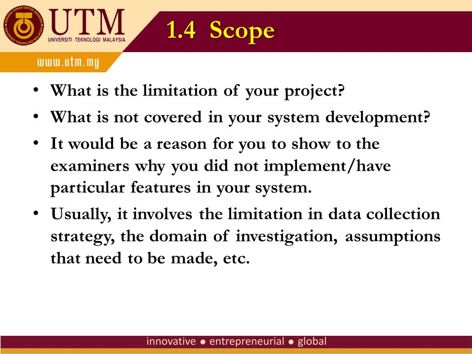 thesis limit the scope