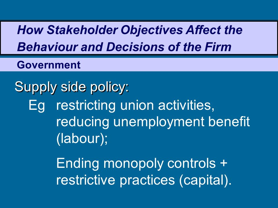 how does a monopoly benefit stakeholders Competition and monopoly: single-firm conduct under section 2 of and the inference of monopoly power does not automatically follow does antitrust need to.